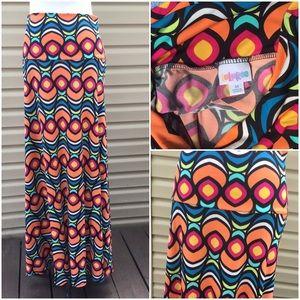 🆕 LulaRoe Colorful Maxi Skirt !